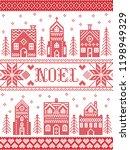 vector christmas village... | Shutterstock .eps vector #1198949329