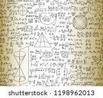 scientific mathematical vector... | Shutterstock .eps vector #1198962013