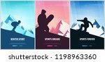 set banners of winter sport.... | Shutterstock .eps vector #1198963360
