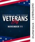 veterans day. honoring all who... | Shutterstock .eps vector #1198963390