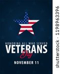veterans day. honoring all who... | Shutterstock .eps vector #1198963396