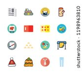 material icon set. vector set... | Shutterstock .eps vector #1198963810