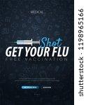 vaccination. get your flu shot. ... | Shutterstock .eps vector #1198965166
