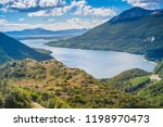 lago escondido  lake at tierra... | Shutterstock . vector #1198970473
