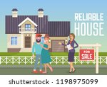 reliable house. house for sale. ... | Shutterstock .eps vector #1198975099