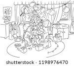 vector illustration  kids... | Shutterstock .eps vector #1198976470