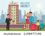 real estate agency concept.... | Shutterstock .eps vector #1198977190