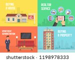 real estate agency concept.... | Shutterstock .eps vector #1198978333