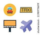 tourist icon set. vector set... | Shutterstock .eps vector #1198978699