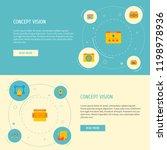 set of website development... | Shutterstock . vector #1198978936