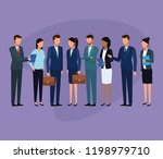 business colleagues in a... | Shutterstock .eps vector #1198979710