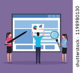 business colleagues doing... | Shutterstock .eps vector #1198980130