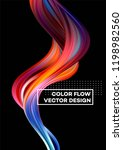 modern colorful flow poster.... | Shutterstock .eps vector #1198982560