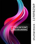 modern colorful flow poster.... | Shutterstock .eps vector #1198982569