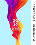 modern colorful flow poster.... | Shutterstock .eps vector #1198982590