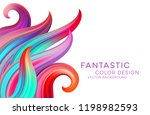 abstract background with color... | Shutterstock .eps vector #1198982593