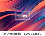 modern colorful flow poster....   Shutterstock .eps vector #1198982650