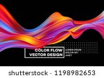 modern colorful flow poster.... | Shutterstock .eps vector #1198982653