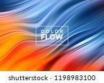 modern colorful flow poster.... | Shutterstock .eps vector #1198983100