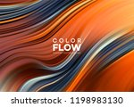 modern colorful flow poster.... | Shutterstock .eps vector #1198983130