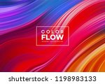 modern colorful flow poster.... | Shutterstock .eps vector #1198983133