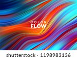modern colorful flow poster.... | Shutterstock .eps vector #1198983136