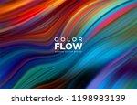 modern colorful flow poster.... | Shutterstock .eps vector #1198983139