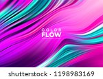 modern colorful flow poster.... | Shutterstock .eps vector #1198983169