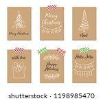 christmas greeting cards  gift... | Shutterstock .eps vector #1198985470