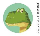 brontosaurus dinosaur cartoon | Shutterstock .eps vector #1198985989