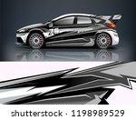 car decal wrap design vector.... | Shutterstock .eps vector #1198989529