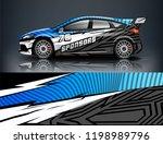 car decal wrap design vector.... | Shutterstock .eps vector #1198989796