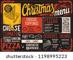 christmas menu template for... | Shutterstock .eps vector #1198995223
