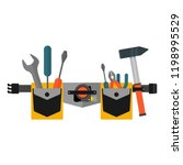 belt with tools. conceptual... | Shutterstock .eps vector #1198995529