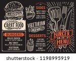 burger menu template for...   Shutterstock .eps vector #1198995919