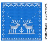 vector knitted pattern with... | Shutterstock .eps vector #1198996096
