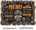 coffee menu template for... | Shutterstock .eps vector #1198996306
