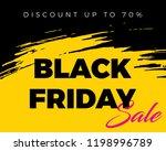 black friday sale banner | Shutterstock .eps vector #1198996789