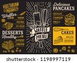 waffle and pancake menu... | Shutterstock .eps vector #1198997119