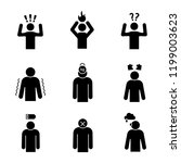 emotional stress glyph icons... | Shutterstock .eps vector #1199003623
