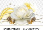 3d Wallpaper  Rose And Jewelry...