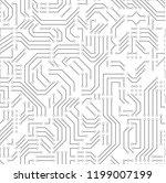 printed circuit board. seamless ... | Shutterstock .eps vector #1199007199