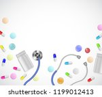 medical care mockup with... | Shutterstock .eps vector #1199012413