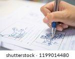 storyboard or storytelling... | Shutterstock . vector #1199014480