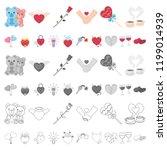 romantic relationship cartoon... | Shutterstock .eps vector #1199014939