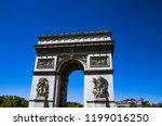 paris  france. triumphal arch. | Shutterstock . vector #1199016250