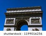 paris  france. triumphal arch. | Shutterstock . vector #1199016256