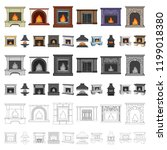 different kinds of fireplaces... | Shutterstock .eps vector #1199018380