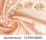 3d wallpaper  jewelry flowers... | Shutterstock . vector #1199018803
