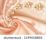 3d wallpaper  jewelry flowers... | Shutterstock . vector #1199018803